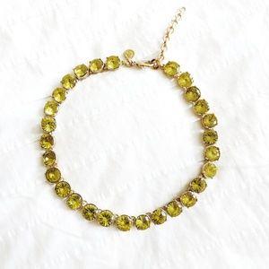 C Wonder green crystal necklace